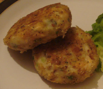 Sweet trout fishcakes
