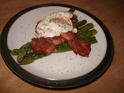 ... organic eggs from Abel & Cole, and some top of the range smoked bacon