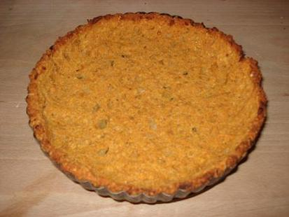 Roasted vegetable & feta quiche with lentil and oat base   She likes ...