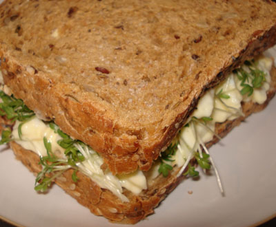 egg mayonnaise cress sandwich she likes her food. Black Bedroom Furniture Sets. Home Design Ideas